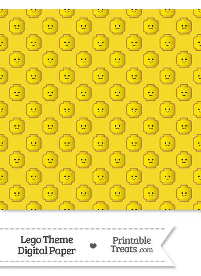 Yellow Lego Theme Digital Scrapbook Paper from PrintableTreats.com