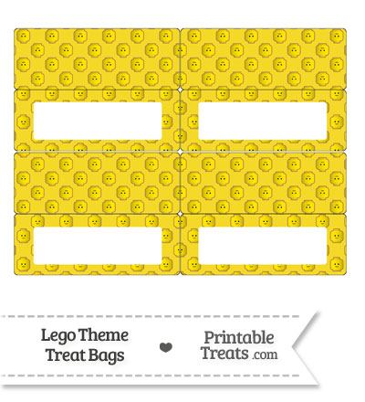 Yellow Lego Theme Treat Bag Toppers from PrintableTreats.com