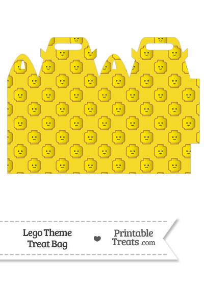 Yellow Lego Theme Treat Bag from PrintableTreats.com