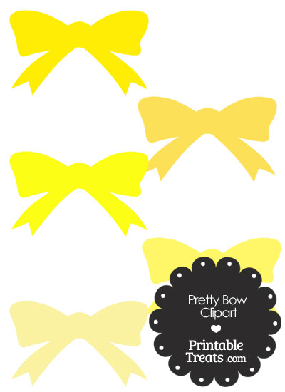 Yellow Pretty Bow Clipart from PrintableTreats.com