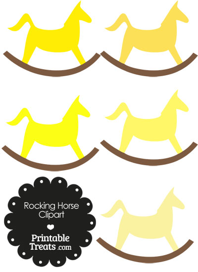Yellow Rocking Horse Clipart from PrintableTreats.com