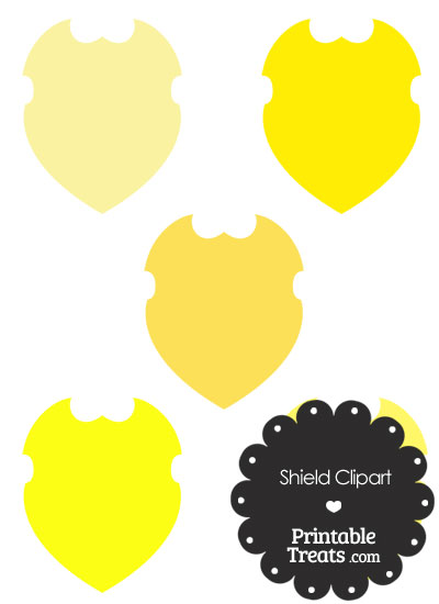 Yellow Shield Clipart from PrintableTreats.com