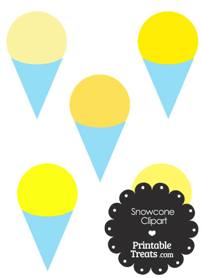 Yellow Snow Cone Clipart from PrintableTreats.com