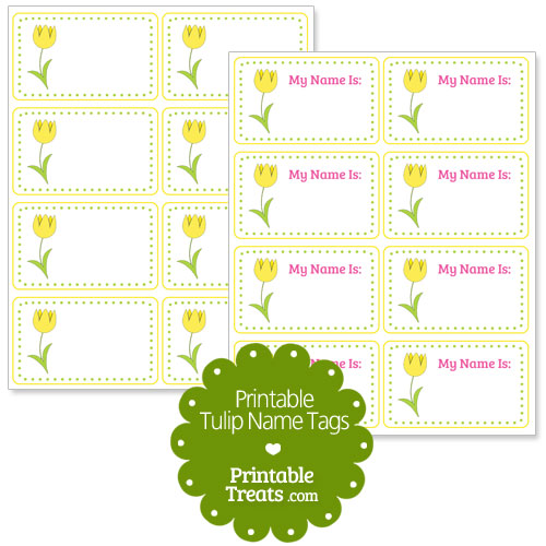 yellow tulip name tags