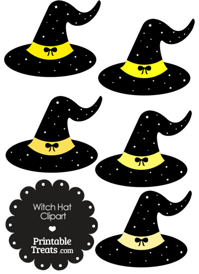 Yellow Witch Hat Clipart from PrintableTreats.com