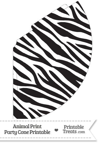 Zebra Print Party Cone from PrintableTreats.com