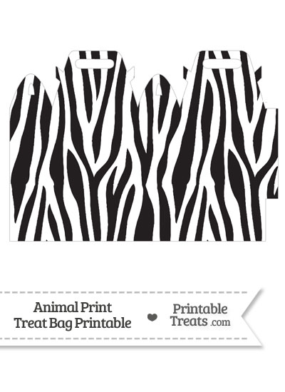Zebra Print Treat Bag from PrintableTreats.com