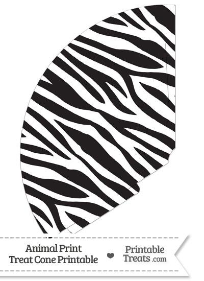 Zebra Print Treat Cone from PrintableTreats.com