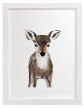 Baby Deer Art Print for Gender Neutral Animal Theme Nursery
