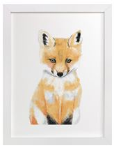 Baby Fox Art Print for Gender Neutral Animal Theme Nursery