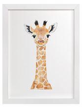 Baby Giraffe Art Print for Gender Neutral Animal Theme Nursery