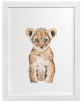 Baby Lion Art Print for Gender Neutral Animal Theme Nursery