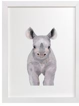 Baby Rhino Art Print for Gender Neutral Animal Theme Nursery