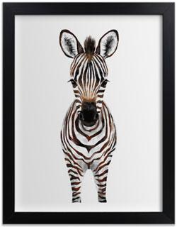 Baby Zebra Art Print for Gender Neutral Animal Theme Nursery