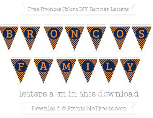Free Broncos Colors DIY Banner Letters