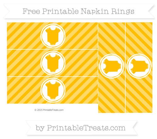 Free Amber Diagonal Striped Baby Onesie Napkin Rings