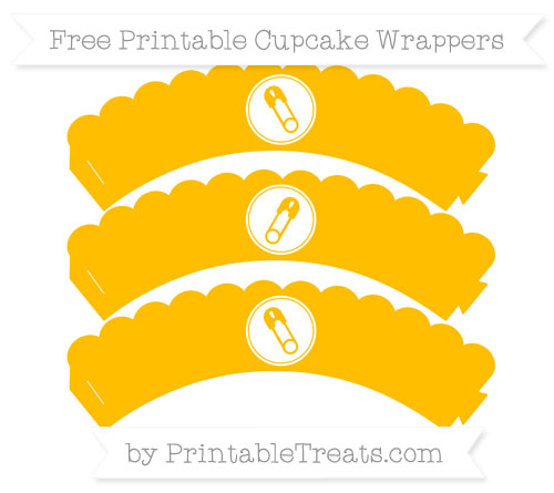 Free Amber Diaper Pin Scalloped Cupcake Wrappers