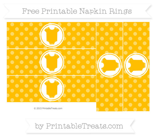 Free Amber Dotted Pattern Baby Onesie Napkin Rings