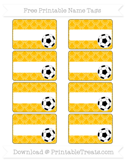 Free Amber Fish Scale Pattern Soccer Name Tags