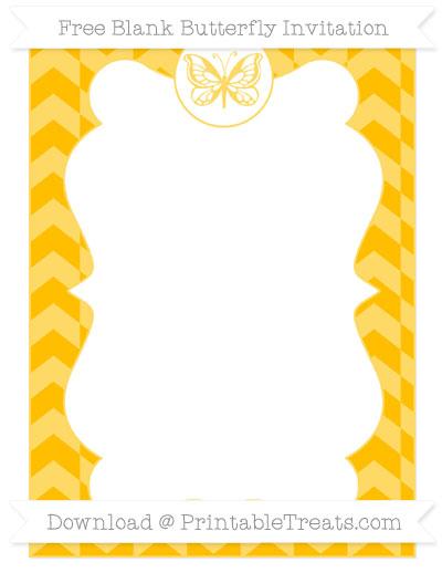 Free Amber Herringbone Pattern Blank Butterfly Invitation