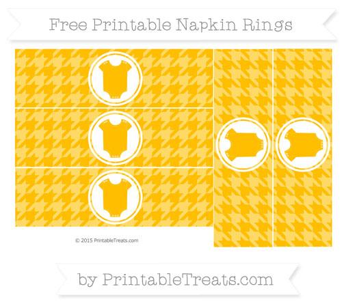 Free Amber Houndstooth Pattern Baby Onesie Napkin Rings