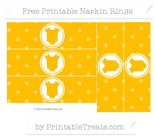 Free Amber Star Pattern Baby Onesie Napkin Rings