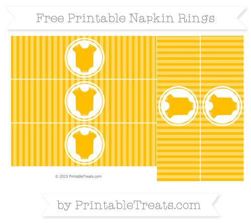 Free Amber Thin Striped Pattern Baby Onesie Napkin Rings