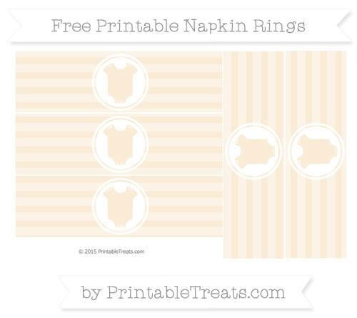 Free Antique White Horizontal Striped Baby Onesie Napkin Rings
