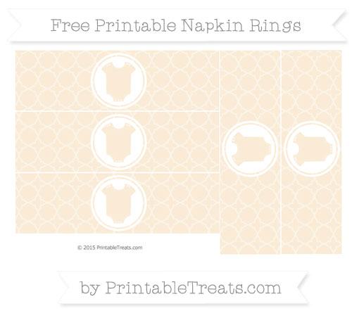 Free Antique White Quatrefoil Pattern Baby Onesie Napkin Rings