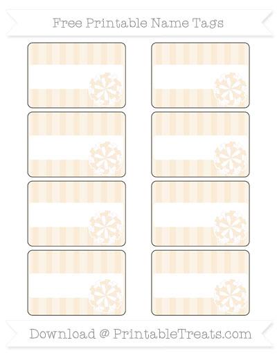 Free Antique White Striped Cheer Pom Pom Tags