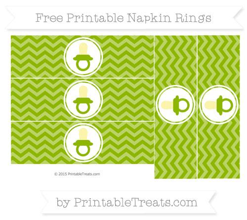 Free Apple Green Chevron Baby Pacifier Napkin Rings