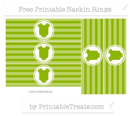Free Apple Green Horizontal Striped Baby Onesie Napkin Rings