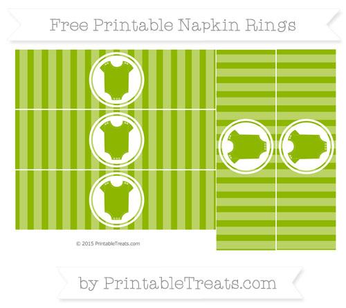 Free Apple Green Striped Baby Onesie Napkin Rings
