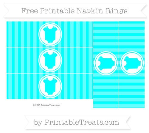 Free Aqua Blue Striped Baby Onesie Napkin Rings