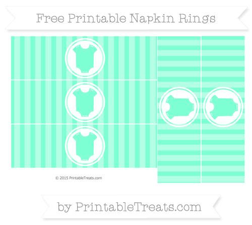 Free Aquamarine Striped Baby Onesie Napkin Rings