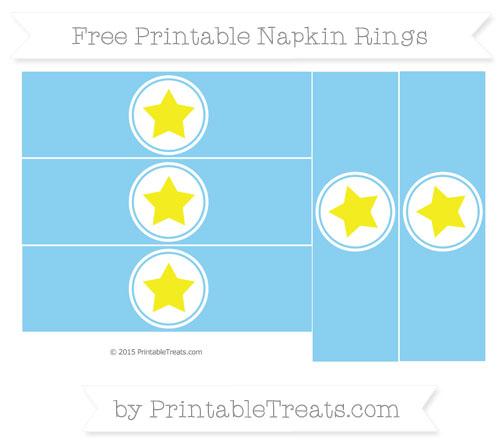 Free Baby Blue Star Napkin Rings