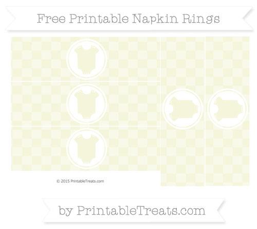 Free Beige Checker Pattern Baby Onesie Napkin Rings