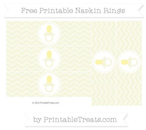 Free Beige Chevron Baby Pacifier Napkin Rings