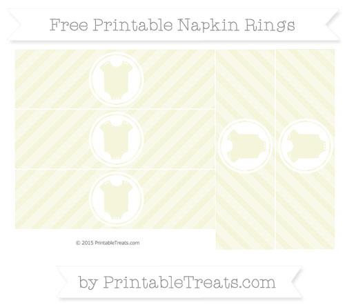 Free Beige Diagonal Striped Baby Onesie Napkin Rings