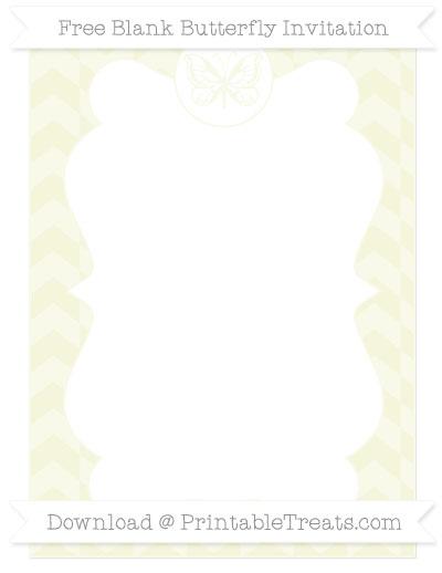 Free Beige Herringbone Pattern Blank Butterfly Invitation