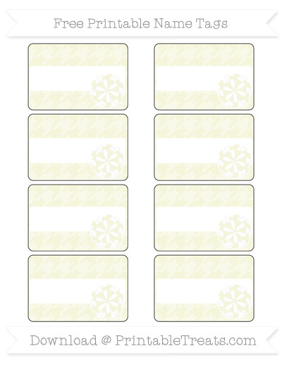 Free Beige Houndstooth Pattern Cheer Pom Pom Tags