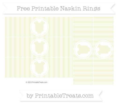 Free Beige Striped Baby Onesie Napkin Rings