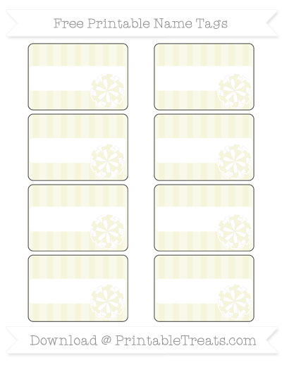 Free Beige Striped Cheer Pom Pom Tags