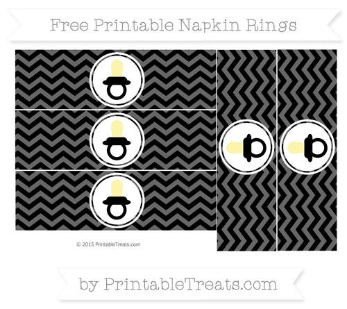 Free Black Chevron Baby Pacifier Napkin Rings