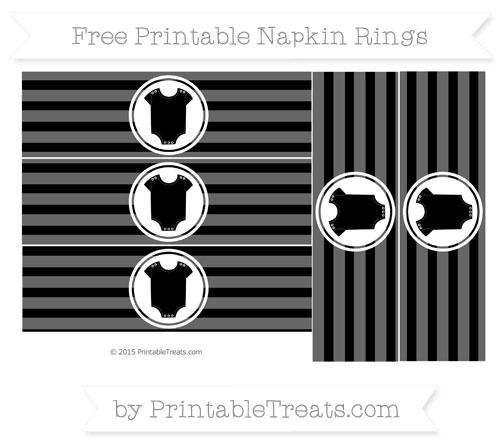 Free Black Horizontal Striped Baby Onesie Napkin Rings