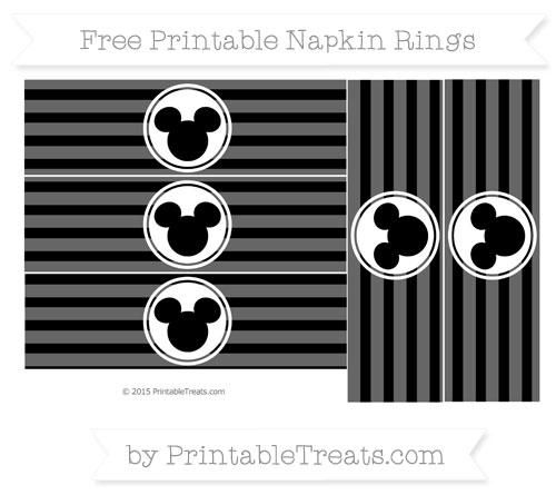 Free Black Horizontal Striped Mickey Mouse Napkin Rings