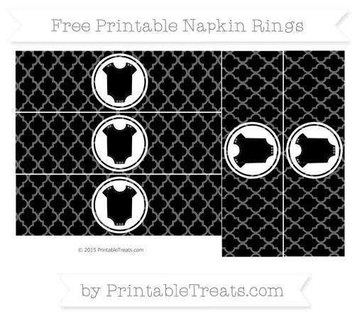 Free Black Moroccan Tile Baby Onesie Napkin Rings