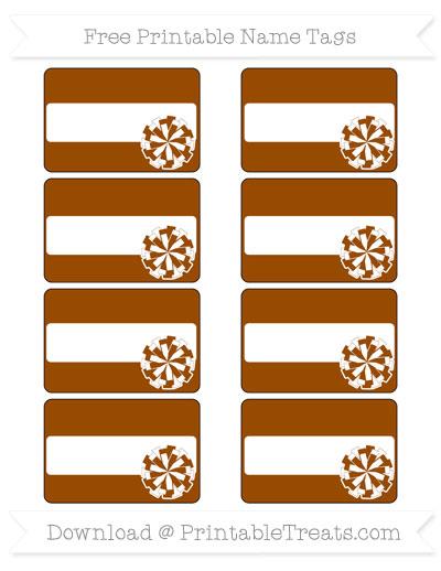 Free Brown Cheer Pom Pom Tags