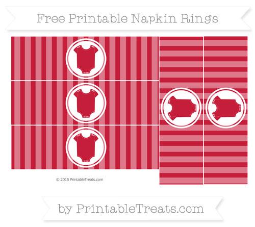 Free Cardinal Red Striped Baby Onesie Napkin Rings