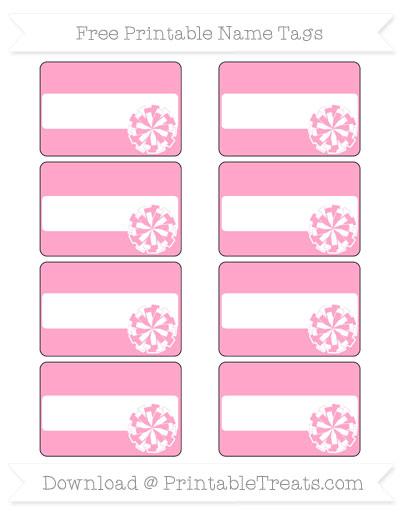 Free Carnation Pink Cheer Pom Pom Tags